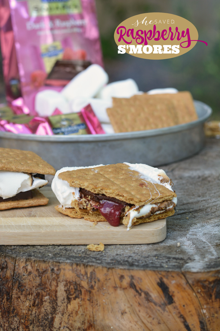 Just one little change to your usual s'mores recipe and you have delicious raspberry smores recipe that will be a new favorite!