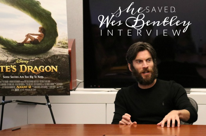 Read my Wes Bentley interview to find out what happened behind the scenes of Pete's Dragon!