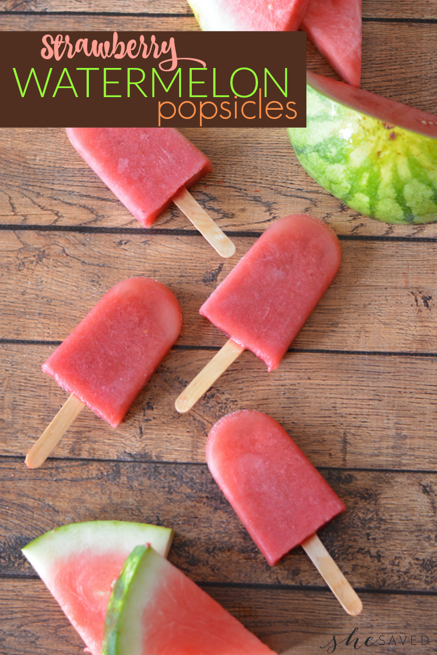 Perfect for summer this Watermelon Popsicles Recipe will be a huge hit on those hot days of summer!