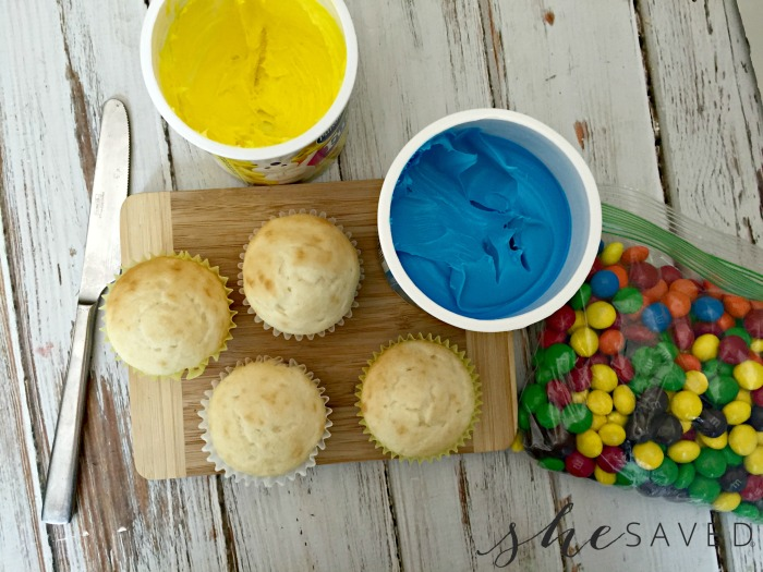 Ingredients for lego Cupcakes