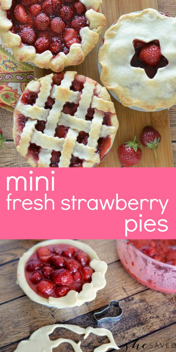 Recipe for mini strawberry pies