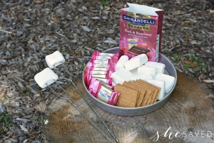 Raspberry Smores Ingredients