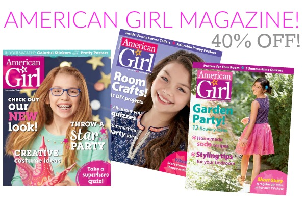 American girl magazine subscription coupon code