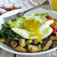 Avocado, Egg, and Potato Breakfast Bowl Recipe