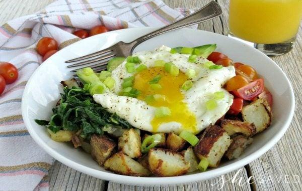 Avocado, Egg, and Potato Breakfast Bowl Recipe