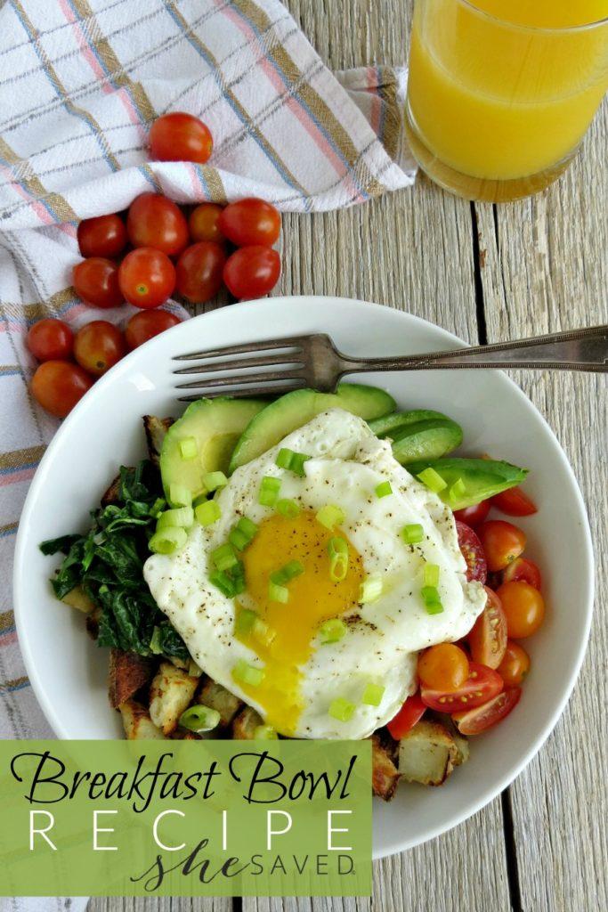 Avocado Egg And Potato Breakfast Bowl Recipe Shesaved