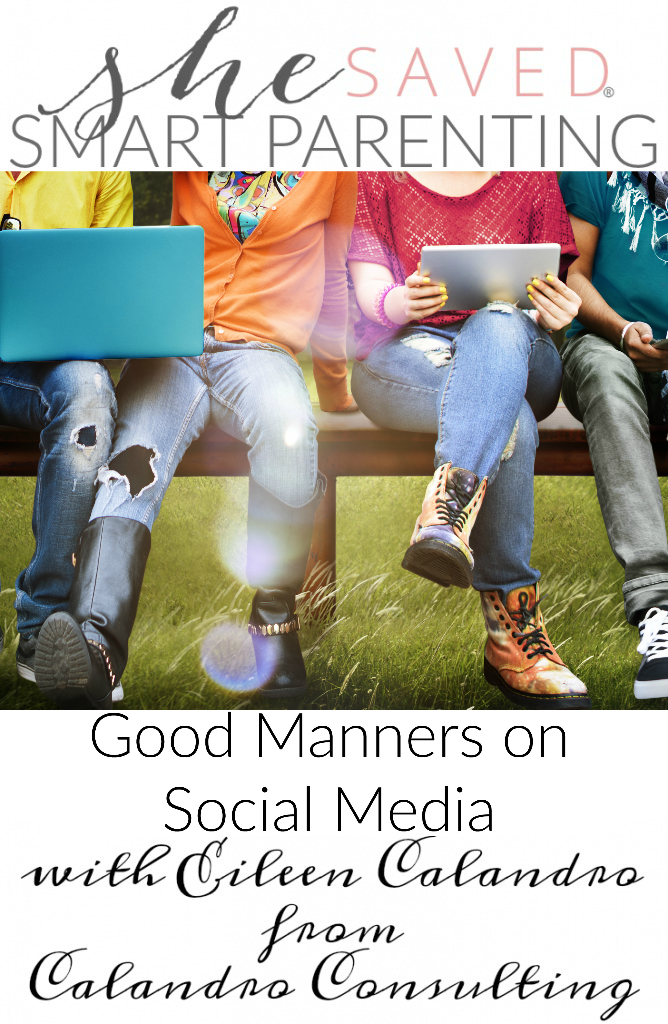 Teach your kids how to use Good Manners on Social Media. Great advice and something we should all know how to do!