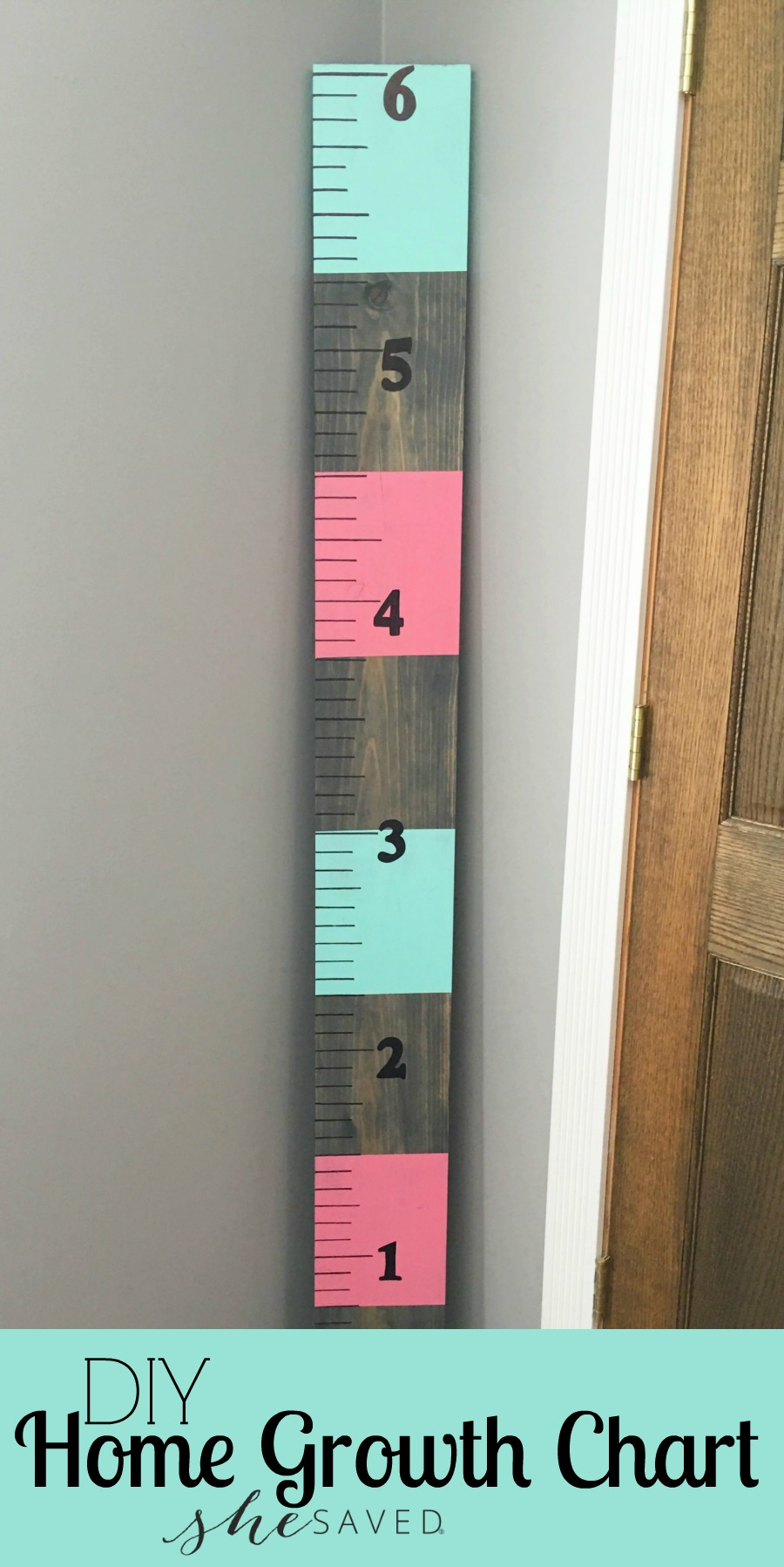 Here's a fun DIY project that you will enjoy for years to come! Make your own Home Growth Chart to track your littles as they grow and grow!