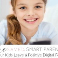 Help Your Kids Leave a Positive Digital Footprint