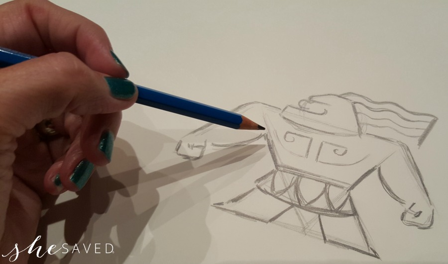 sketching-moana