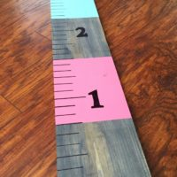 DIY Project: Wooden Home Growth Chart