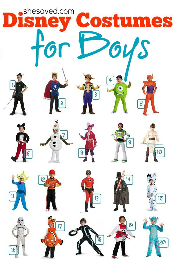 Looking for Disney Costume Ideas? Here are some great Disney Costume ideas for boys!