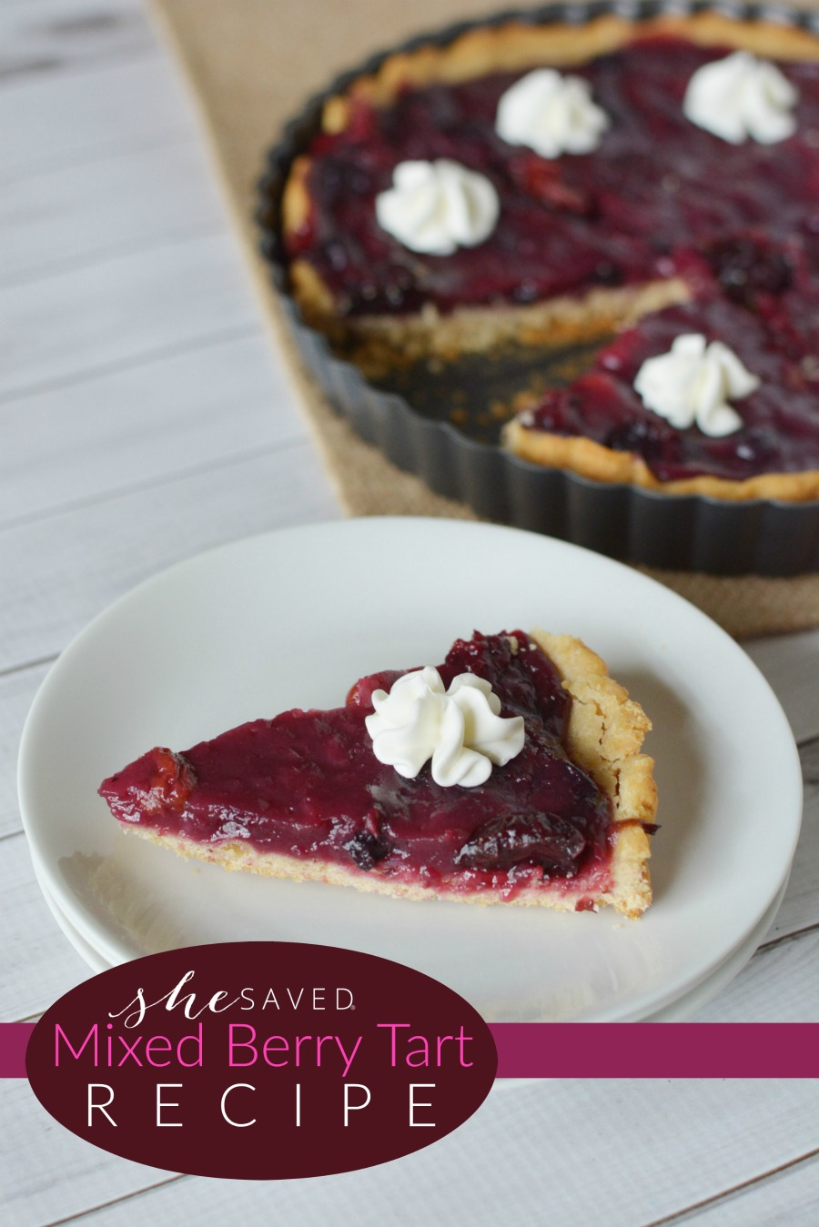 This mixed berry tart recipe is the perfect dessert addition your your holiday meal!