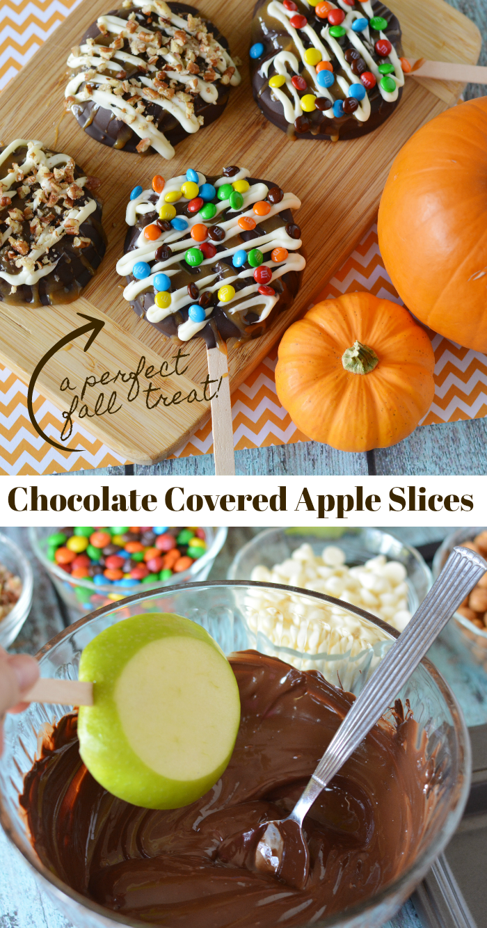 chocolate covered apple slices recipe