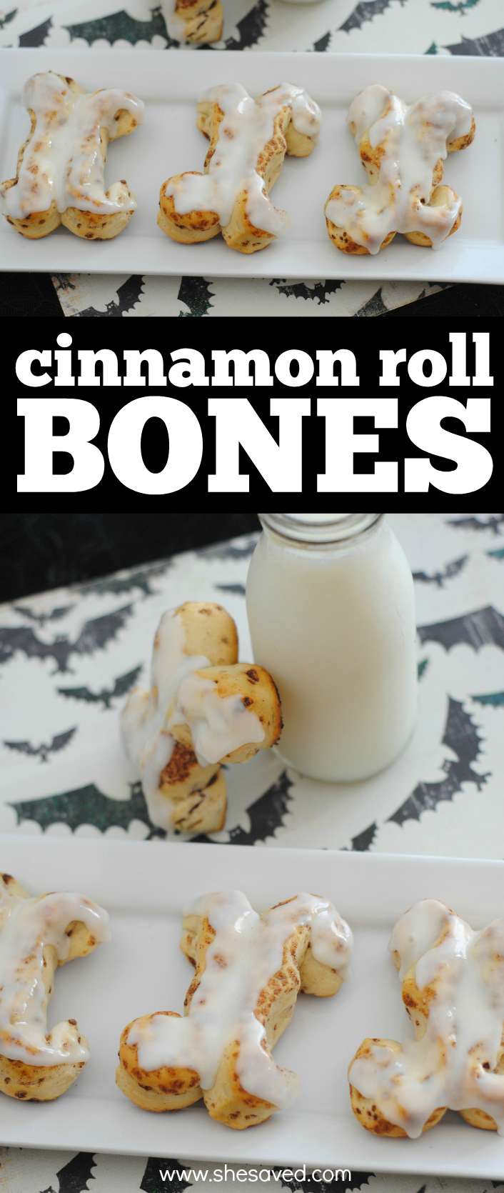 The perfect Halloween breakfast, these spooky cinnamon roll bones are both yummy and a great way to serve up a haunting treat!