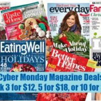 Cyber Monday Magazine Sale: Pick 3 for $12, 5 for $18, or 10 for $30