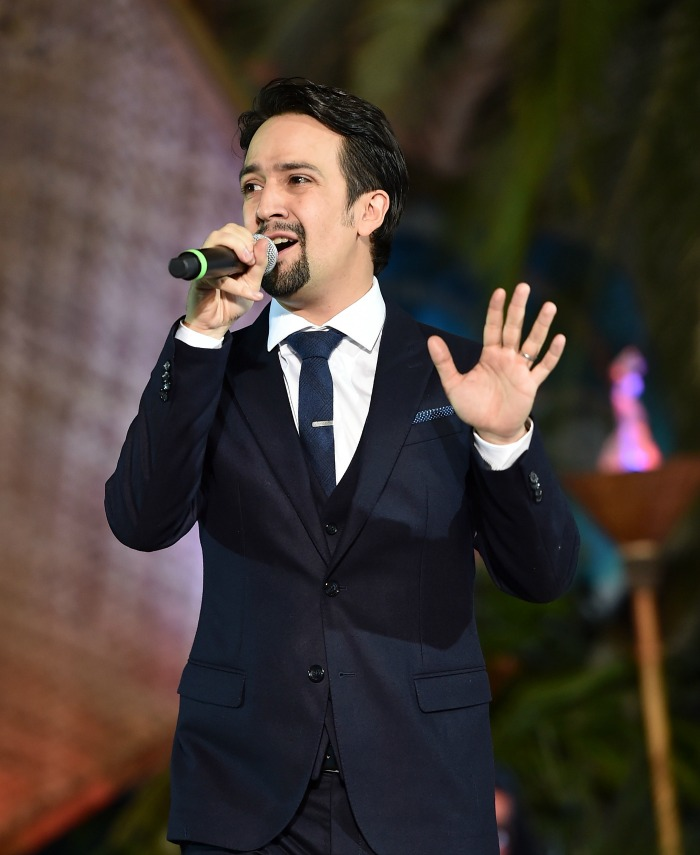 "Songwriter Lin-Manuel Miranda speaks onstage at The World Premiere of Disney's ""MOANA"" at the El Capitan Theatre on Monday, November 14, 2016 in Hollywood, CA. (Photo by Alberto E. Rodriguez/Getty Images for Disney)"