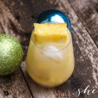 Sparkling Pineapple Noel Holiday Drink