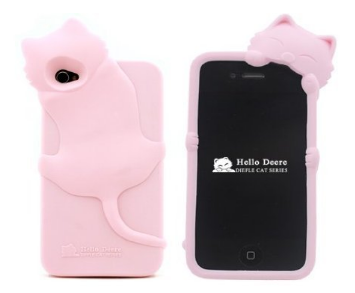 pink kitty phone case