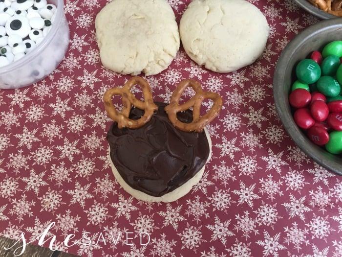 Frosting Reindeer Cookies