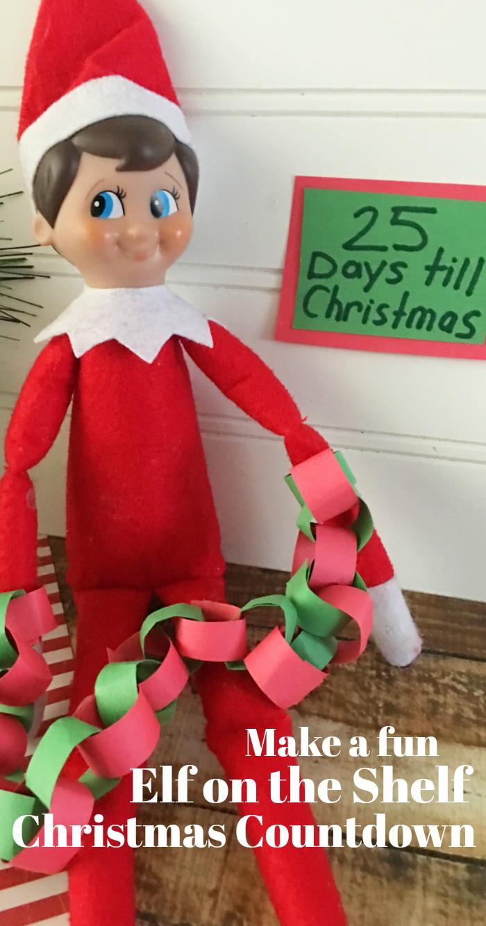 Elf on the Shelf Christmas Countdown Chain Activity Idea
