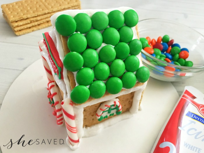 Gingerbread House Roof Decorated
