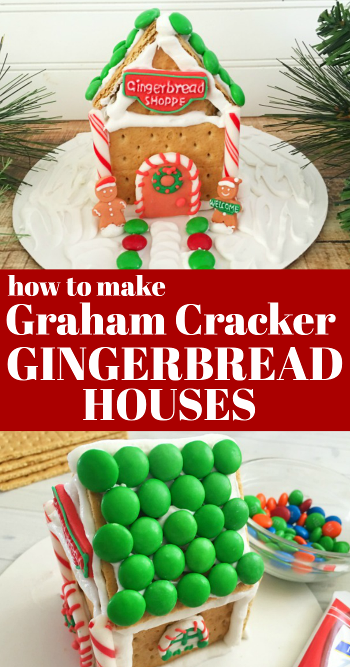 Easy graham cracker gingerbread houses are a fun Christmas activity