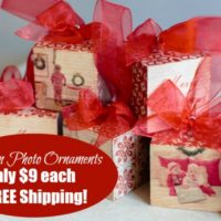HOT DEAL: Custom Wood Photo Ornaments Only $9 + FREE Shipping!