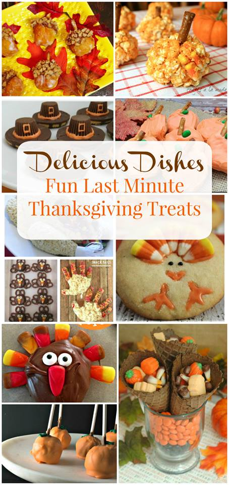 Check out this wonderful list of easy thanksgiving treats that you can make at the last minute!