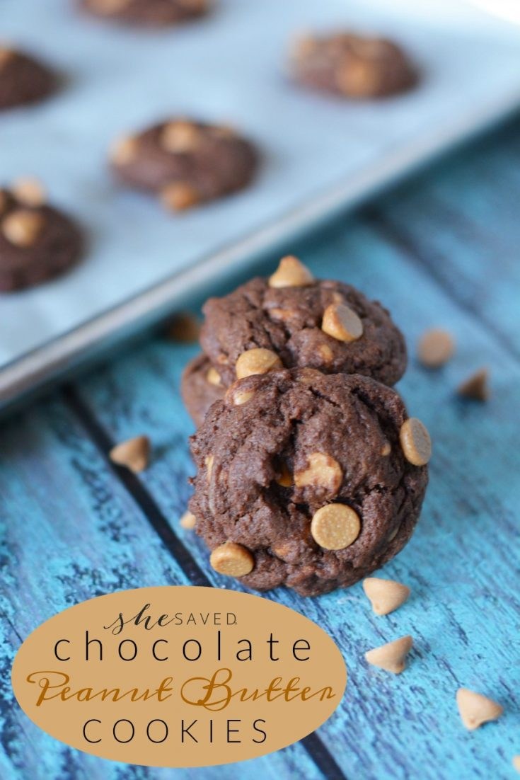 Made from scratch but quick and easy, these Chocolate Peanut Butter cookies are amazing!