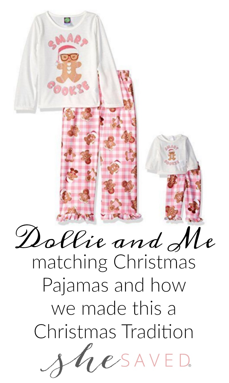 This Dollie and Me matching Christmas Pajamas magical moment has turned into a fun Christmas tradition for us!
