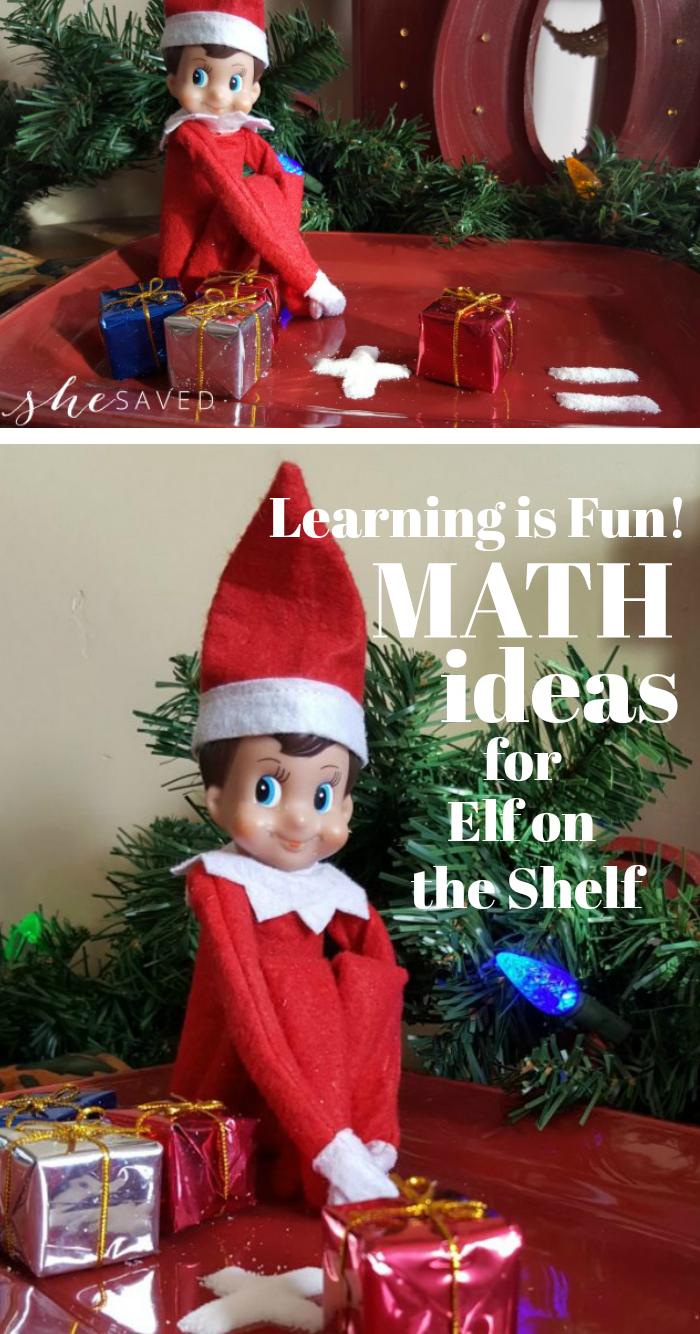 Elf on Shelf Math Ideas for learning