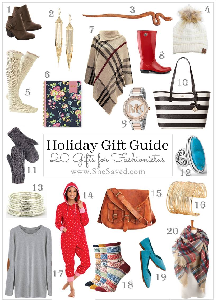 Fashionistas can be fun (and hard) to shop for but I have you covered with my Fashionista Gift Guide!