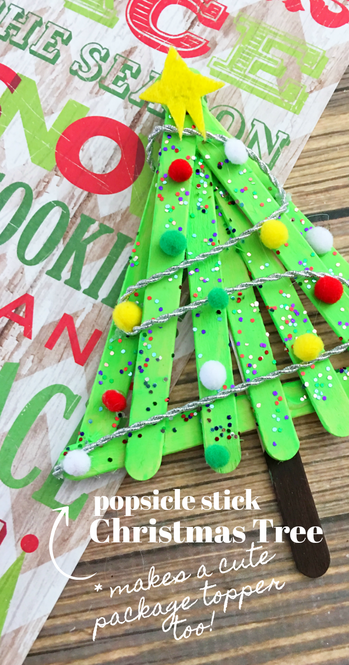 DIY Popsicle Stick Christmas Tree Craft for Kids