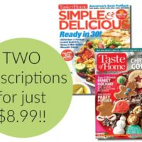 RARE! Taste of Home Magazine + Simple & Delicious Bundle JUST $8.99!