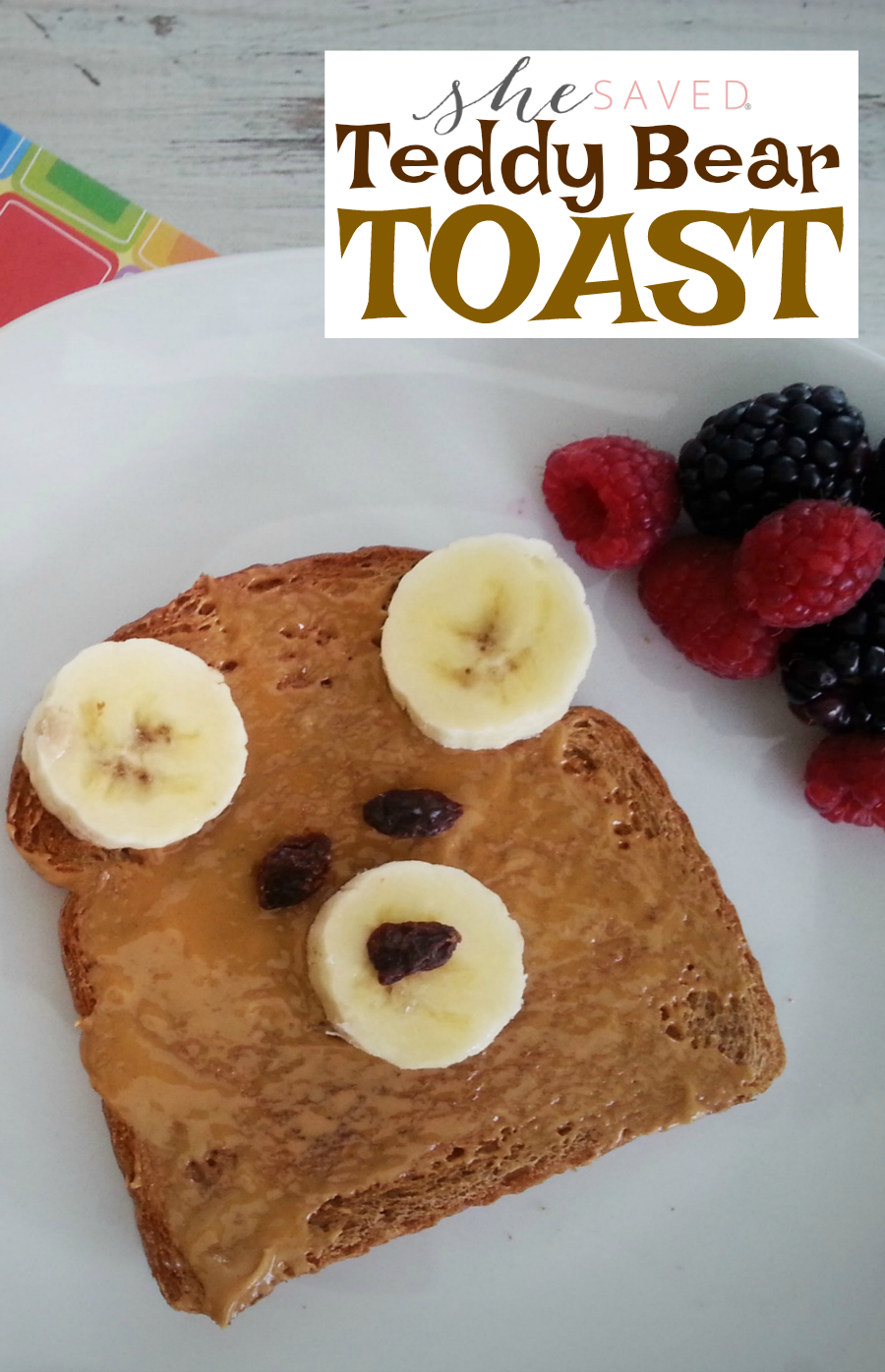 Teddy Bear Toast is SO easy and the perfect way to say I LOVE YOU in the morning!