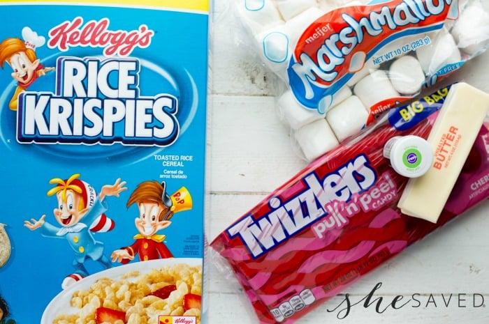Ingredients for Rice Krispie Wreath