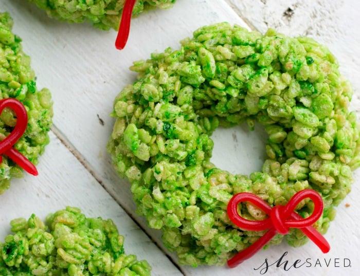Rice Krispie Wreath