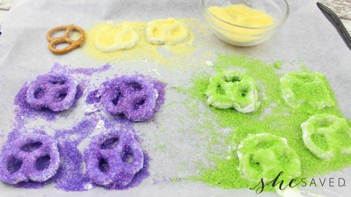Sprinkle Covered Pretzels