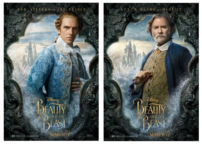 beauty and the beast character posters new beauty and the beast posters - shesaved®