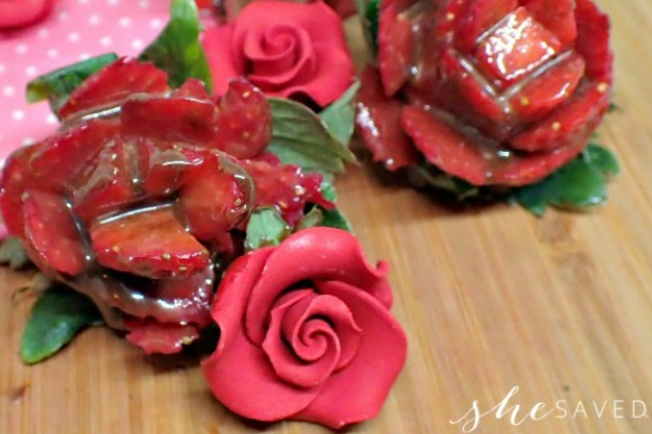 Chocolate Covered Strawberry Roses - SheSaved®
