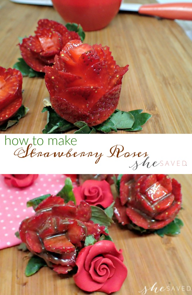 This Chocolate Covered Strawberry Roses recipe is perfect if you are looking for an easy (and pretty!) Valentine's Day dessert. It's also a healthier dessert option (minus the chocolate drizzle, of course!)