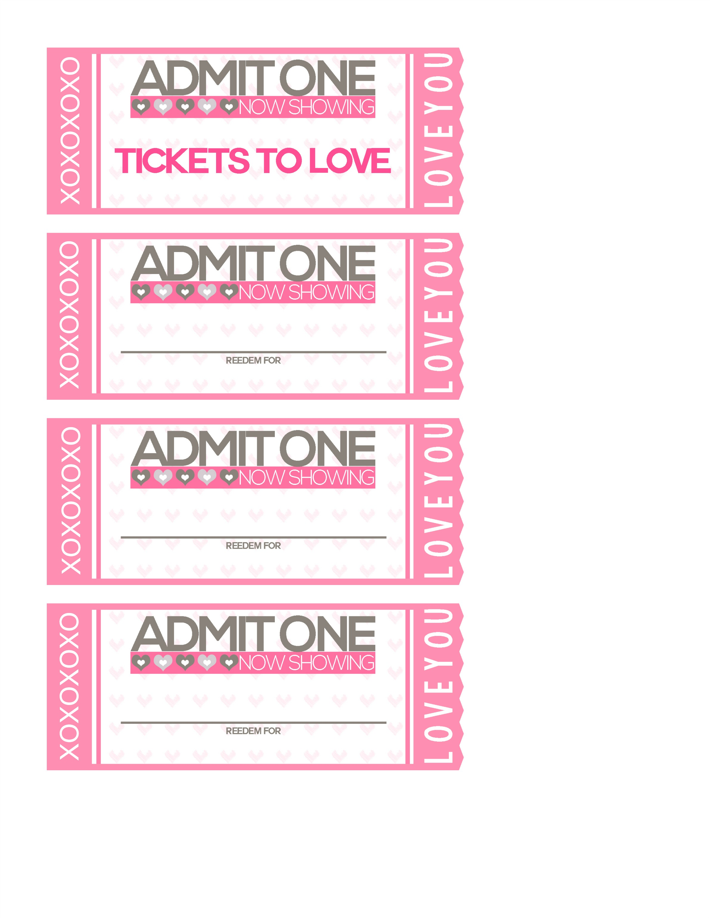 free printable: tickets to love valentine coupon book! - shesaved®