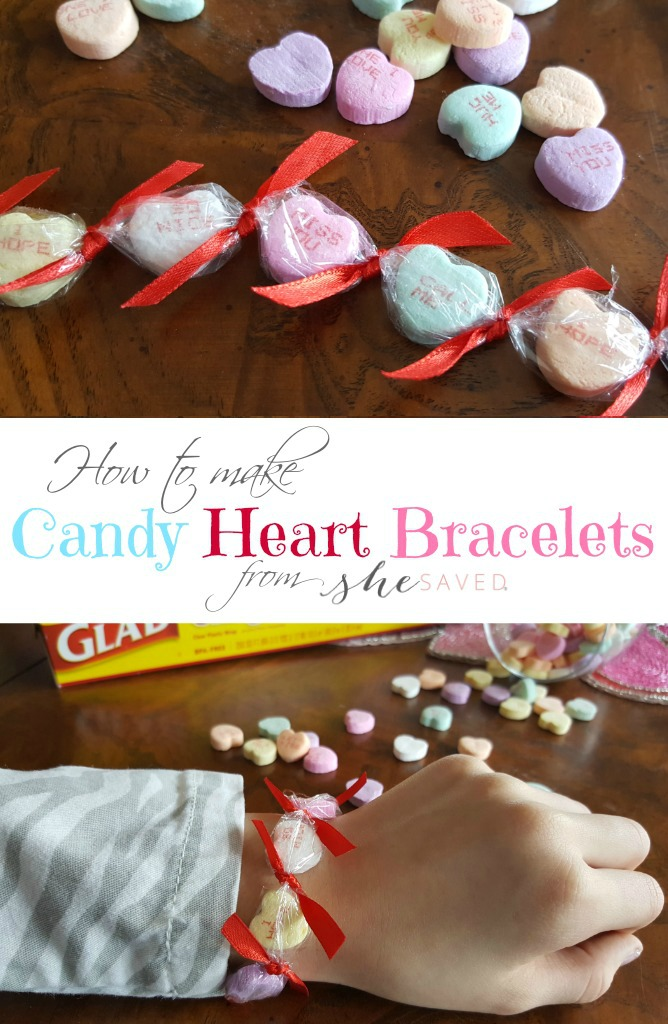 Make your OWN Candy Heart Bracelets with help from our fun DIY Valentine's Day tutorial! Great for classrooms and parties too!