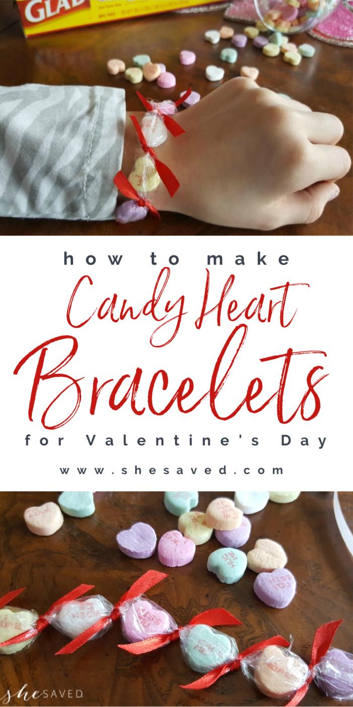 Candy Heart Valentines Day Bracelets