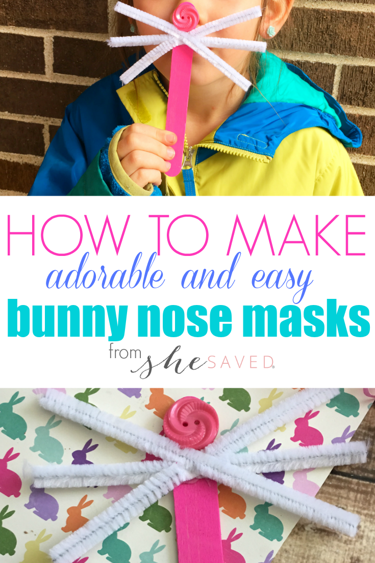 Easy Easter Bunny Craft Kids Mask Shesaved