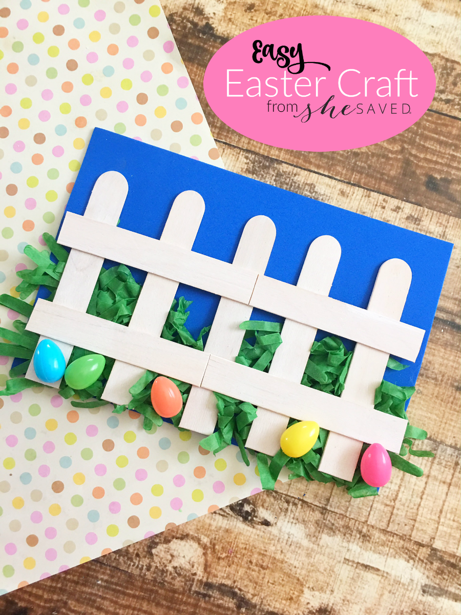 Easy Easter Craft For Preschool Easter Fence Project Shesaved