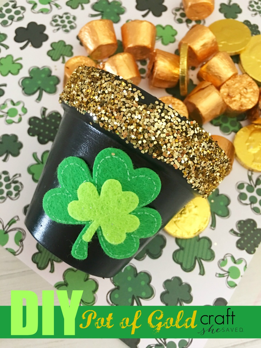 Easy and so much fun, this Pot of Gold Craft will be perfect for your St. Paddy Day festivities!
