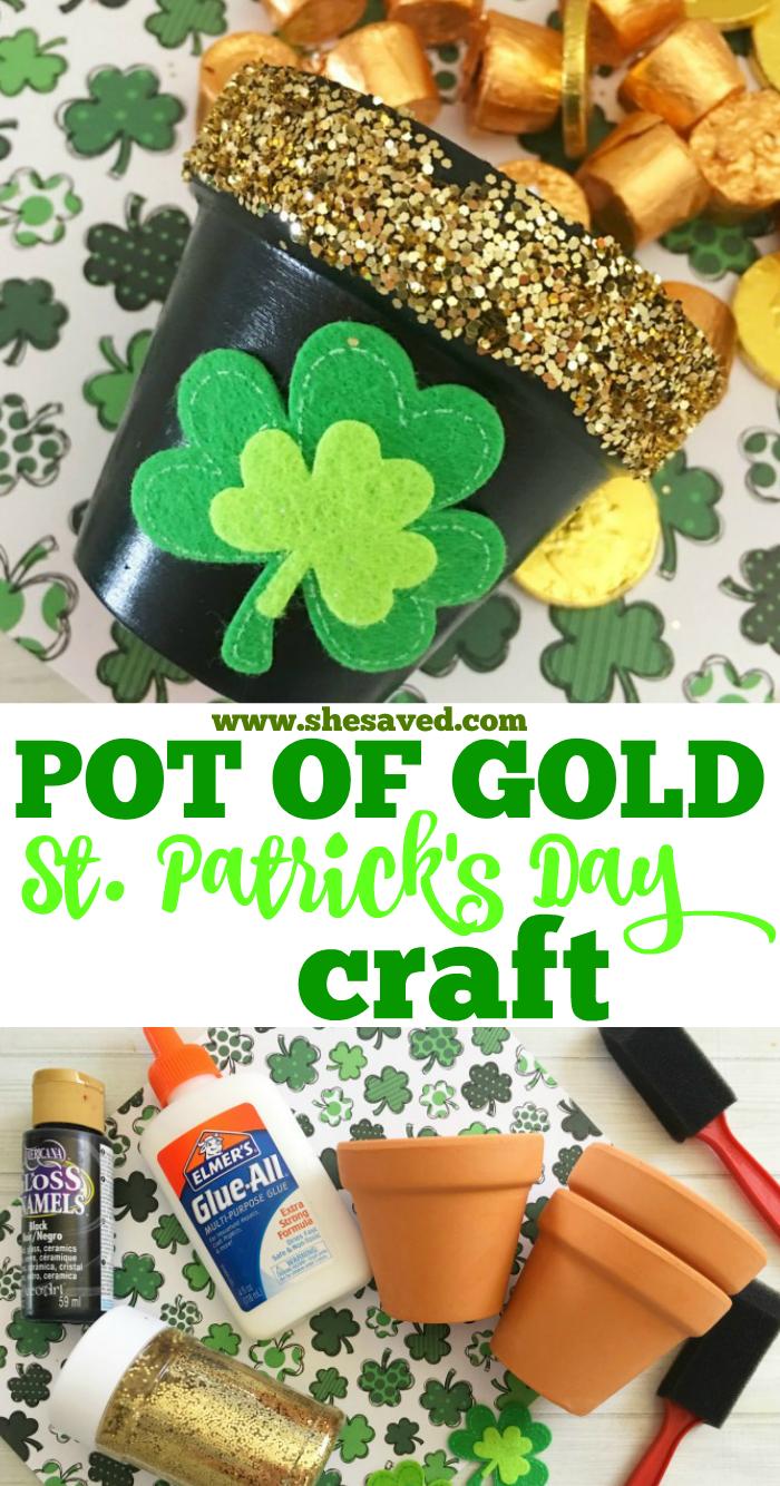 Pot of Gold Craft St. Patrick's Day Craft Activity