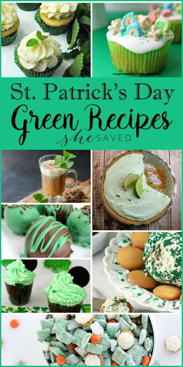 Make sure to save these awesome St. Patrick's Day GREEN recipe ideas!